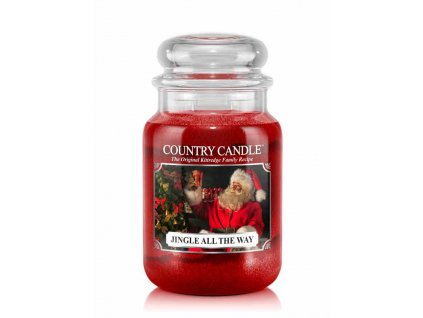 COUNTRY CANDLE Jingle All The Way vonná sviečka veľká 2-knôtová (652 g)