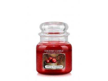 COUNTRY CANDLE Apple & Teakwood vonná sviečka stredná 2-knôtová (453 g)
